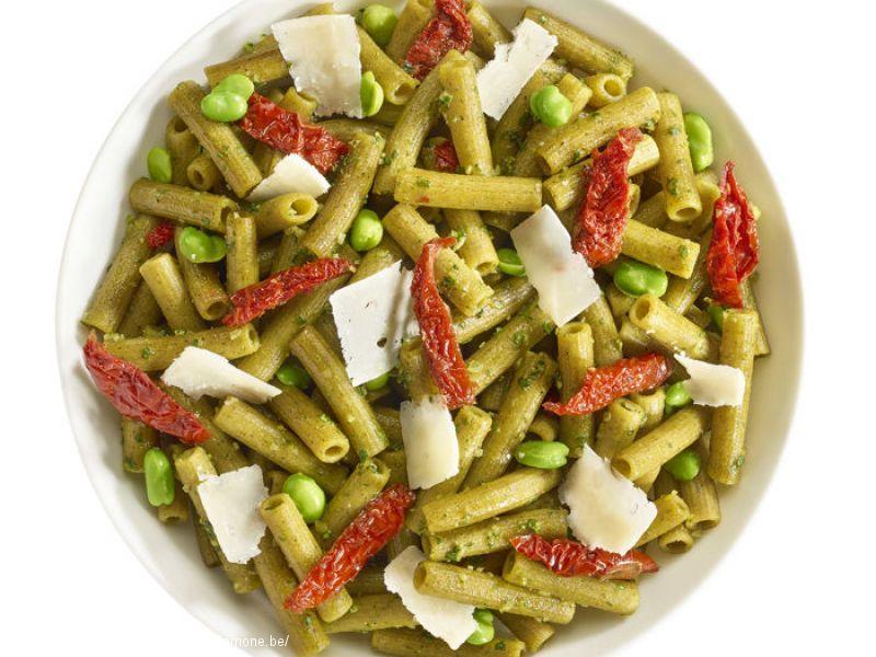 Rigatoni (pois cassé) tomates sechées, parmesan