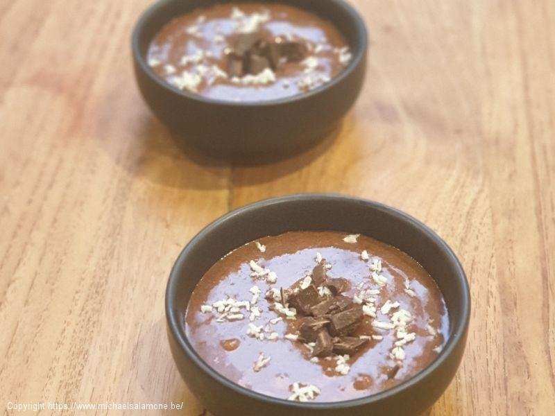 Mousse au chocolat hyperproteinée low carb