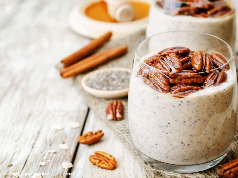 Chia pudding cappuccino