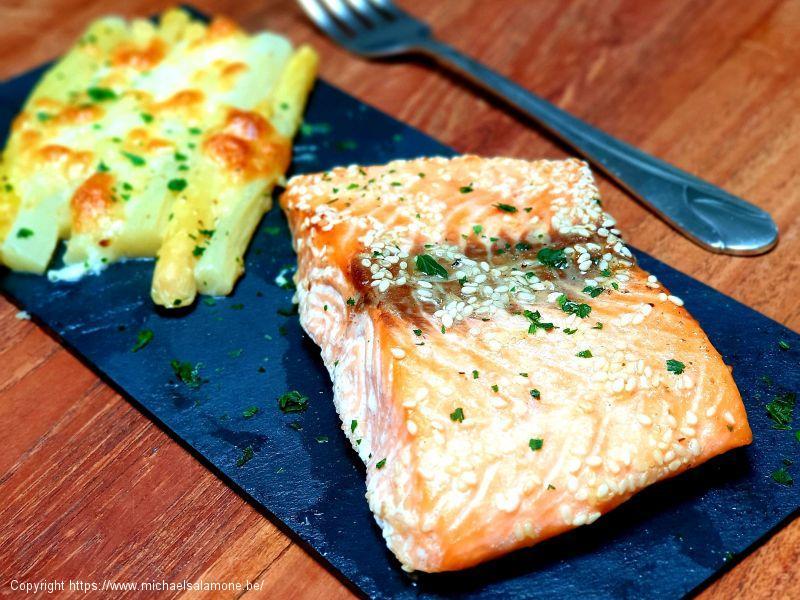 18. Saumon et asperges grattinées au four (3)