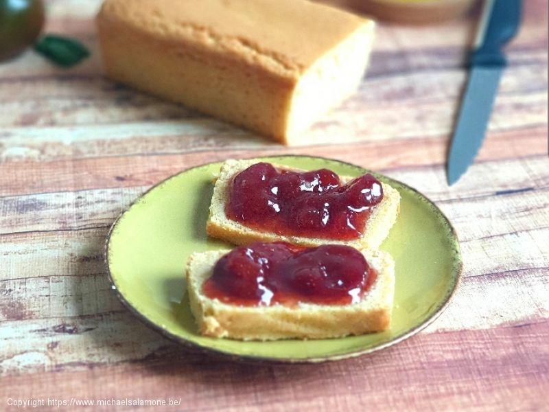 Cake minceur et confiture de fraise maison (1)